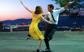 Ryan Gosling And Emma Stone In La La Land 2016