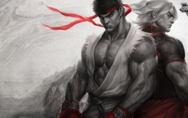 Ryu And Ken Masters Art Street Fighter V