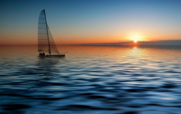Sailing Sunset (click to view)