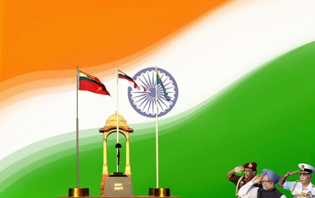 Indian Flag With Different Views: Salute Indian Flag Wallpapers