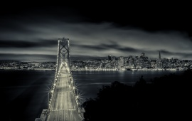 San Francisco Bay Bridge Night