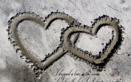 Sand Love Heart Quote