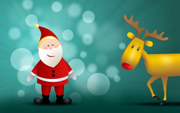 Santa Claus And Rudolf (click to view)