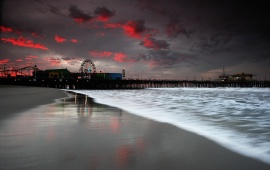 Santa Monica Pier At Sunrise