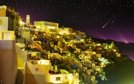 Santorini Greece Night