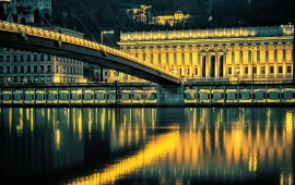 Saone River At Lyon