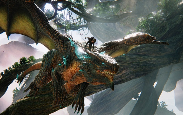 Scalebound Drew And Thuban Flying Dragon Wallpapers