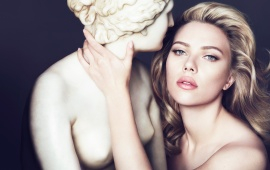 Scarlett Johansson With Sculpture