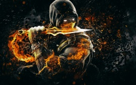 Scorpion Mortal Kombat X Art