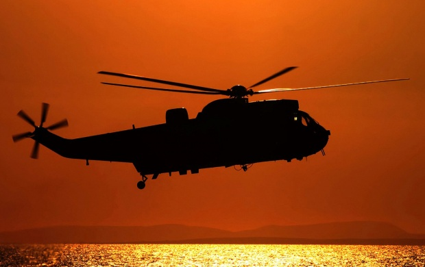 Sea King Sunset (click to view)