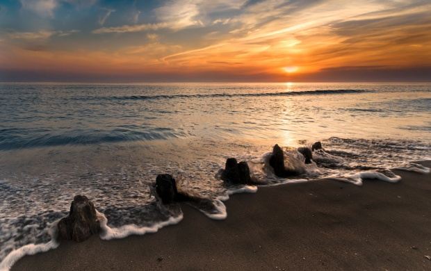 Sea Stones And Sunset (click to view)