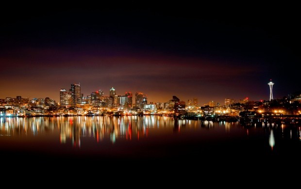 Seattle Skyline At Night (click to view)