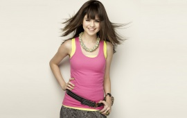 Selena Gomez Pink Yellow Tank Top