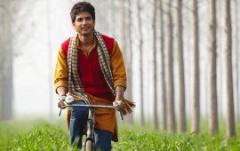 Shahid Kapoor On Bicycle