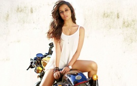 Shraddha Kapoor On Motorcycles