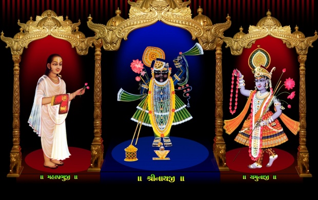 Shreenathji And Shreeyamunaji (click to view)