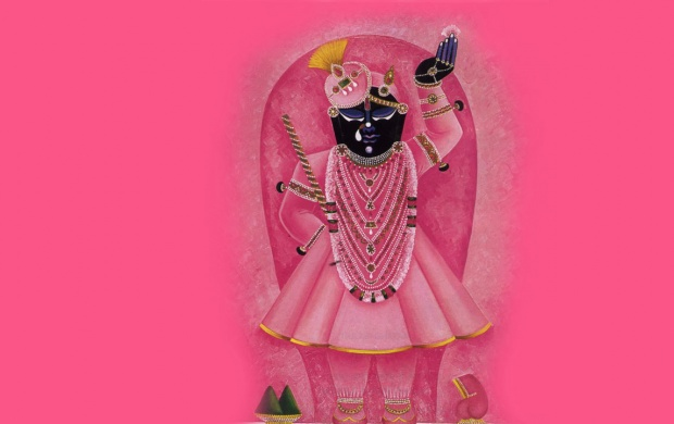 Shrinathji In Pink Costume (click to view)