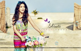 Shruti Hassan With Bicycle