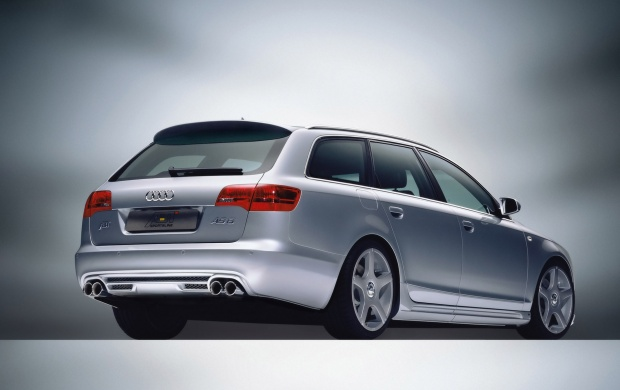 Silver Back Side 2005 Audi AS6 Avant (click to view)