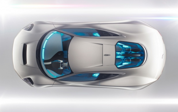 Silver Jaguar Seen From Above (click to view)