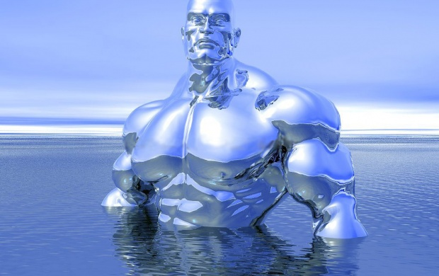 Silver Muscle Man (click to view)