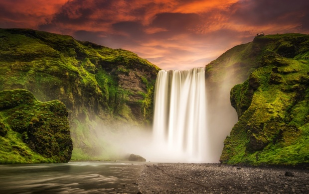 Skogafoss Waterfall Iceland (click to view)