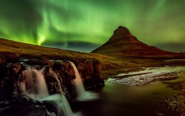 Sky Aurora Iceland Night
