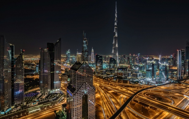 Skyline Of Dubai With A View To Burj Khalifa (click to view)