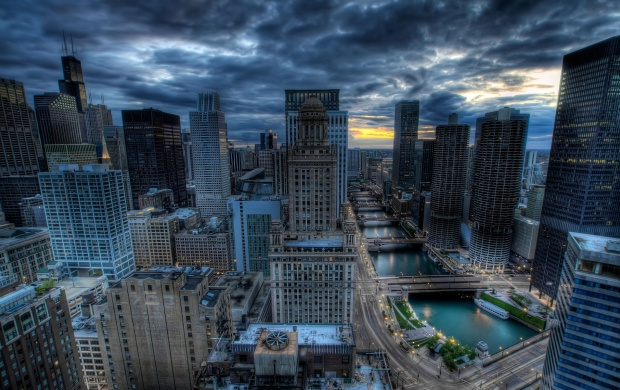 Skyview Of Chicago City (click to view)