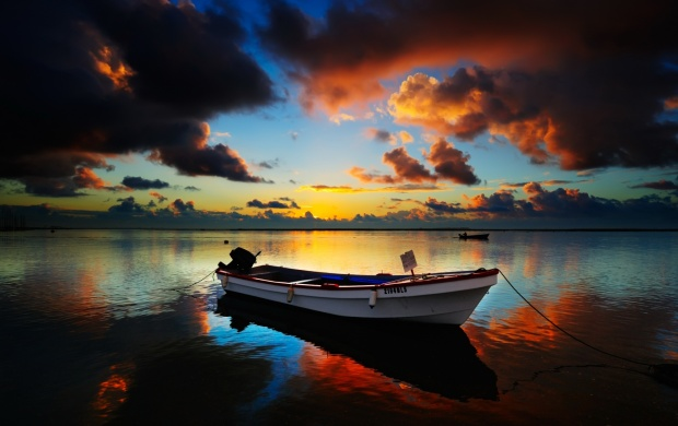 Small Boat at Sunset (click to view)