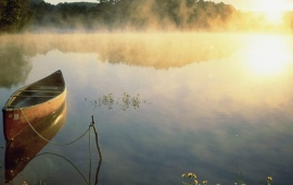 Small Boat on a Steamy Lake