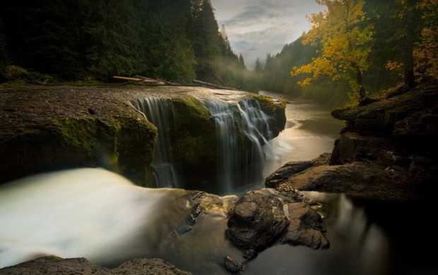 Small Mountain River Waterfall (click to view)