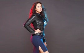 Sonakshi Sinha Wearing Leather Jackets