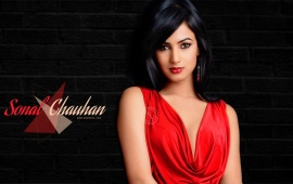 Sonal Chauhan In Red Dress