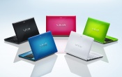 Sony Vaio Colorful Laptop