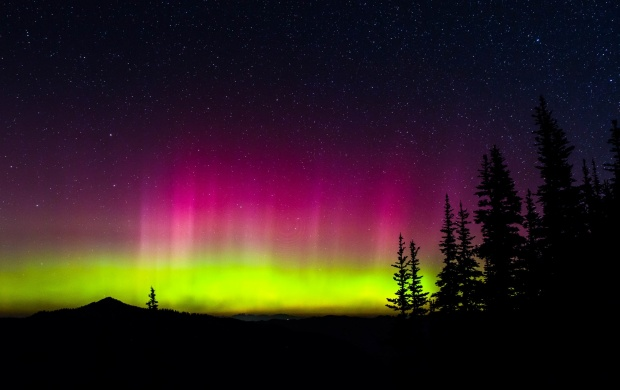 Space Northern Lights Stars Night (click to view)