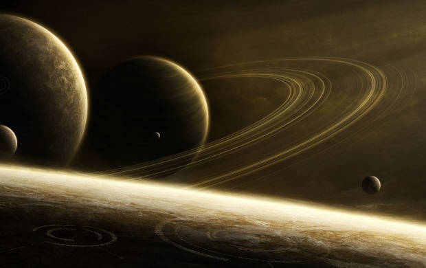 Space Ring Planets Art (click to view)