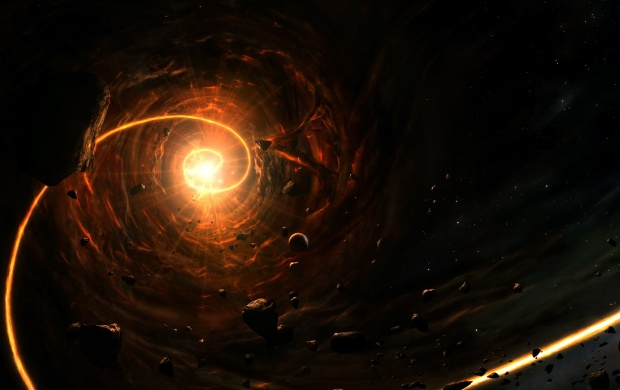 Space Spiral Fire Cosmos (click to view)