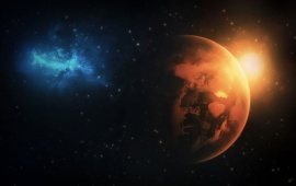 Space Sunrise And Night