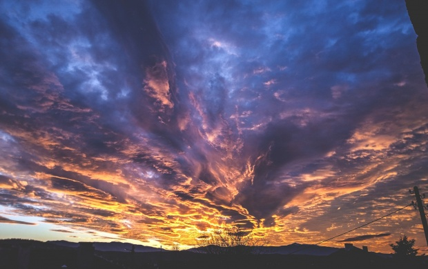 Spectacular Clouds At Sunset (click to view)
