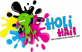Splash Colours Of Holi