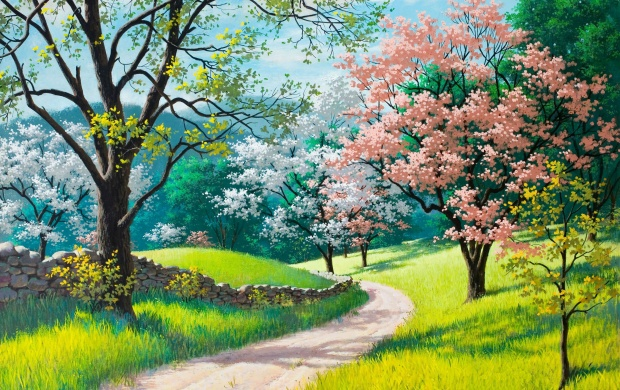 Spring Blossoms Painting (click to view)
