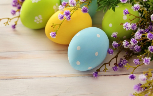 Spring Flowers And Easter Eggs (click to view)