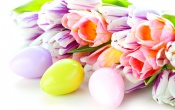 Spring Tulips Easter Eggs Blurring