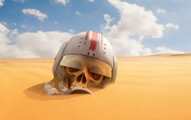 Star Wars Skull At Desert