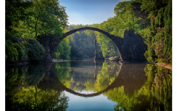 Stone Bridge Lake Reflection (click to view)