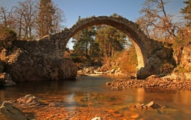 Stone Bridge Over Small River