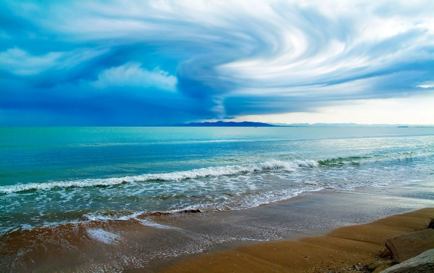 Storm Brewing Above the Sea (click to view)