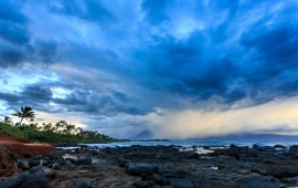 Storm Clouds Above The Sea