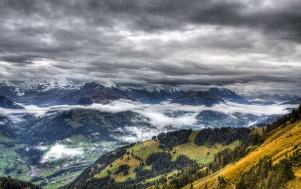 Stormy Clouds Above the Mountains (click to view)